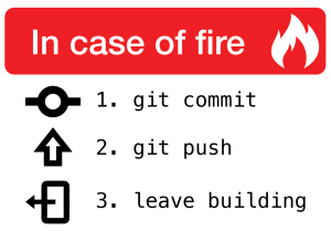 in case of git